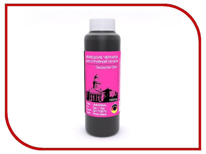 Чернила Bursten Photo Black для картриджей CAN 100g чернила bursten bk c m y для картриджей eps 500g х4
