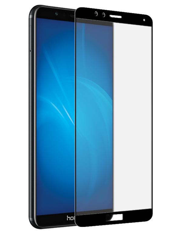 Аксессуар Защитное стекло Media Gadget для Huawei Honor 7X 2.5D Full Cover Glass Full Glue Black Frame MGFCHH7XFGBK аксессуар защитное стекло для huawei honor 7x solomon 2 5d full cover white 2599