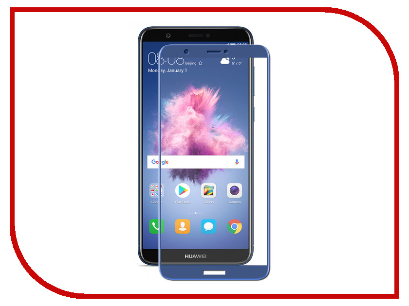Аксессуар Защитное стекло для Huawei P Smart 2.5D Media Gadget Full Cover Glass Blue Frame MGFCHPSBL reedoon f207 radiation blue ray protection tr90 frame resin lens gaming glasses black blue