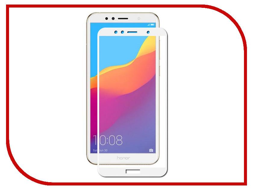 Аксессуар Защитное стекло для Huawei Honor 7A Pro Media Gadget 3D Full Cover Glass White Frame MG3DGHH7APWT