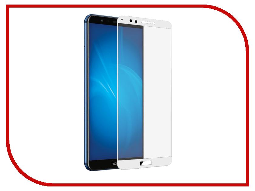 Аксессуар Защитное стекло для Huawei Y6 2018 Media Gadget 3D Full Cover Glass White Frame MG3DGHY618WT