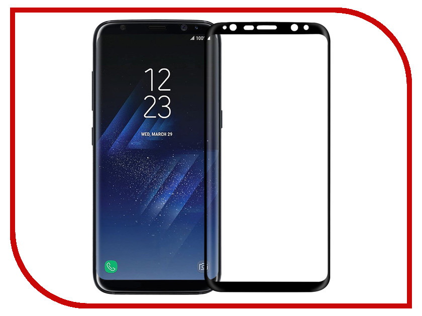 Аксессуар Защитное стекло для Samsung Galaxy S8 Media Gadget 3D Full Cover Glass Full Glue Black Frame MG3DGSGS8FGBK аксессуар защитное стекло для samsung galaxy s8 brosco full screen black ss s8 3d glass black