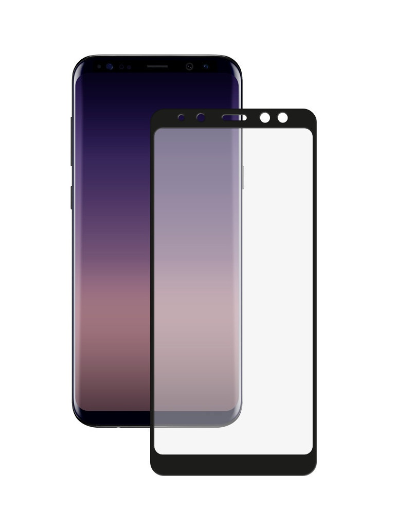 Аксессуар Защитное стекло для Samsung Galaxy A8 2018 Media Gadget 2.5D Full Cover Glass Black Frame