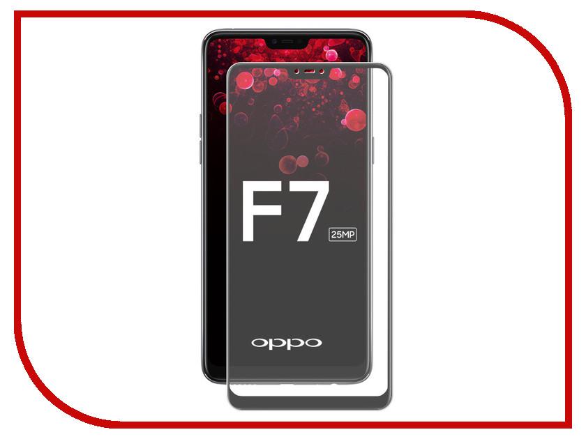 Аксессуар Защитное стекло для OPPO F7 2018 Media Gadget 2.5D Full Cover Glass Black Frame MGFCGOF718BK wierss синий для oppo f7