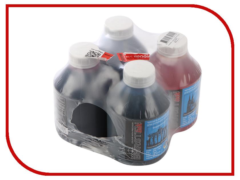 Чернила Bursten BK/C/M/Y для картриджей EPS 500g х4 400ml t1001 t1002 t1003 t1004 inkjet printer edible ink for epson sx600fw sx510w bk c m y