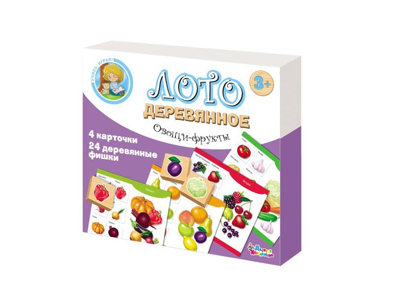 Настольная игра Десятое Королевство Лото Овощи и фрукты 01996