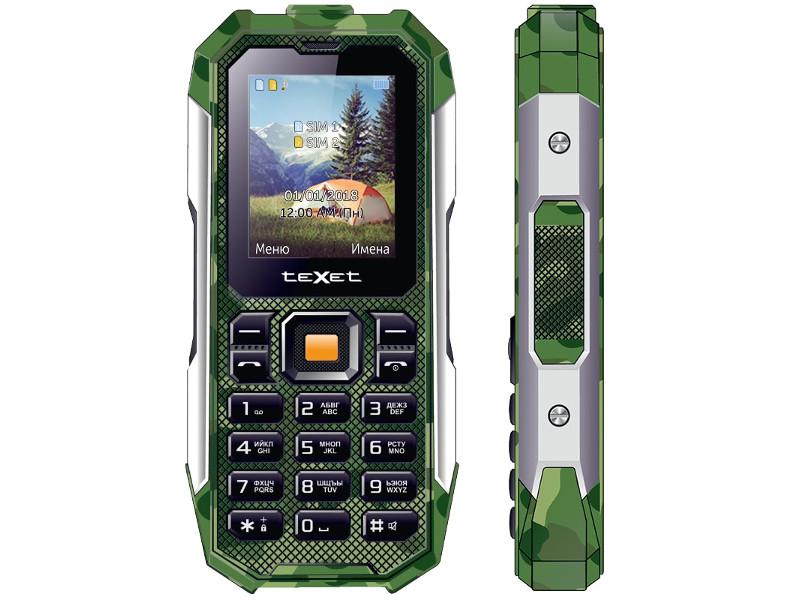 Сотовый телефон teXet TM-518R Green