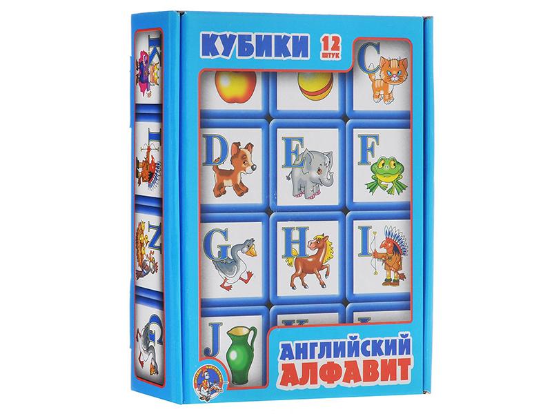 лучшая цена Кубики Десятое Королевство Английский алфавит 12 шт. 00351