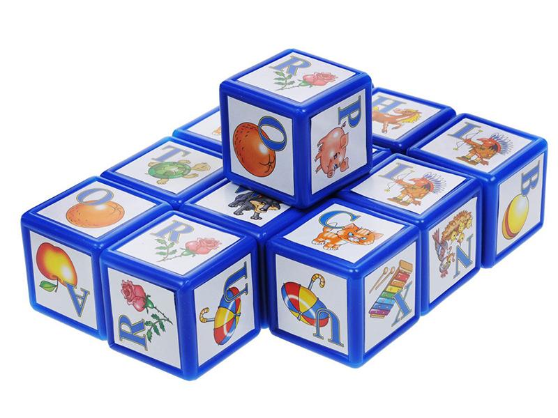 лучшая цена Кубики Десятое Королевство ABC. Английский алфавит 12 шт. 00352