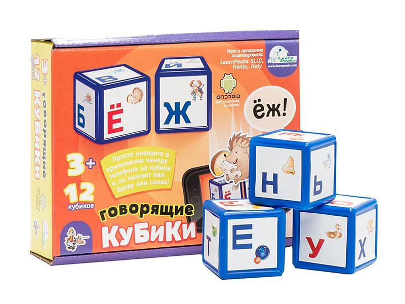 лучшая цена Кубики Десятое Королевство Алфавит 12 шт. говорящие 01572