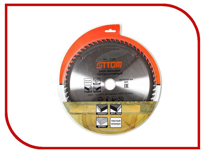 Диск Ottom 250x32/30-60т пильный для ламината, дерева, мдф, дсп 10009 бра аврора замок 10009 2b
