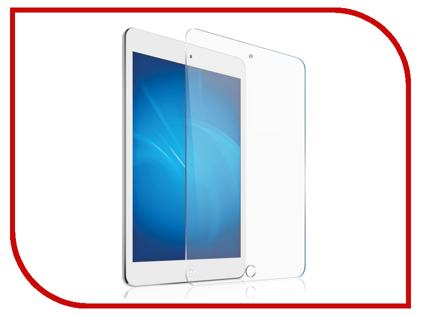 Аксессуар Защитное стекло Red Line 0.22mm для iPad Air / Air 2 Pro 9.7 / iPad 2017 УТ000015646 newtop protective clear screen protector film guard for ipad air transparent
