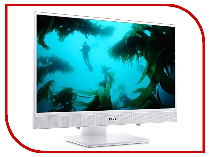 Моноблок Dell Inspiron 3477 White 3477-7147 (Intel Core i3-7130U 2.7 GHz/4096Mb/1000Gb/Intel HD Graphics/LAN/Wi-Fi/Bluetooth/23.8/1920x1080/Windows 10 Home 64-bit) моноблок asus zen zn220icuk ra033t grey 90pt01n1 m03100 intel core i3 7100u 2 4 ghz 4096mb 1000gb intel hd graphics wi fi cam 22 1920x1080 windows 10 64 bit