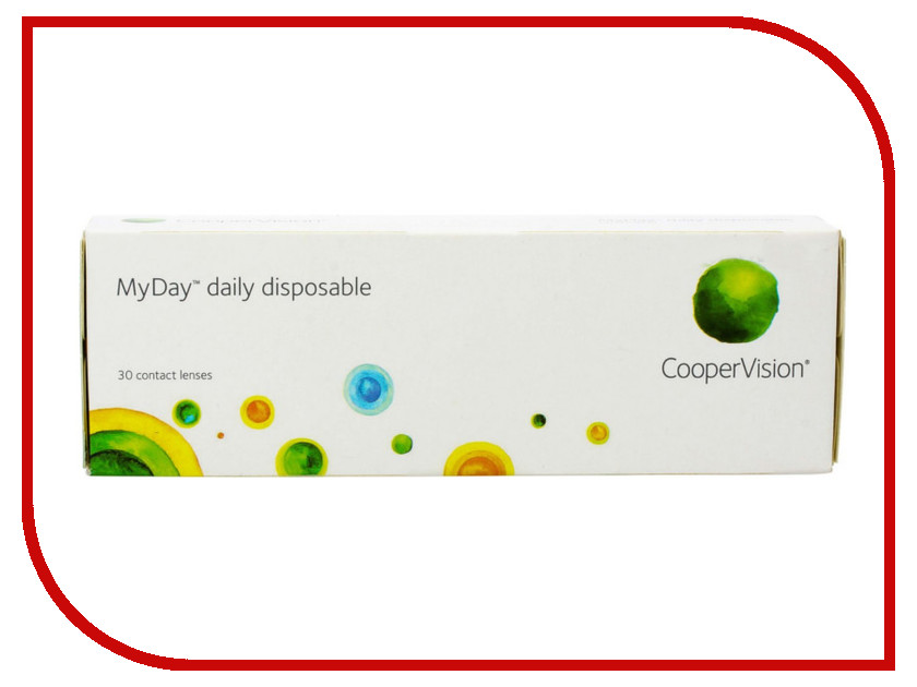 Контактные линзы CooperVision MyDay Daily Disposable (30 линз / 8.4 / -3.5) disposable medical mouth mask blue 20 piece