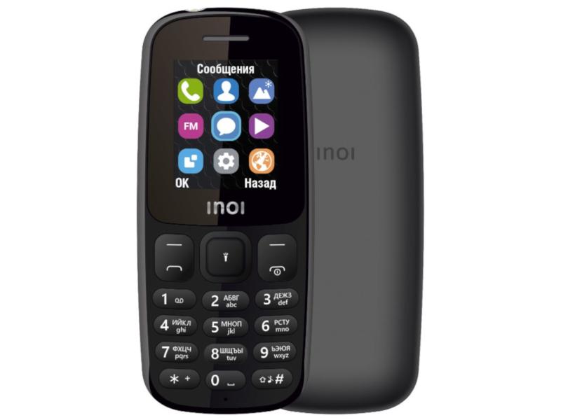 Сотовый телефон Inoi 101 Black сотовый телефон nobby 110 white gray