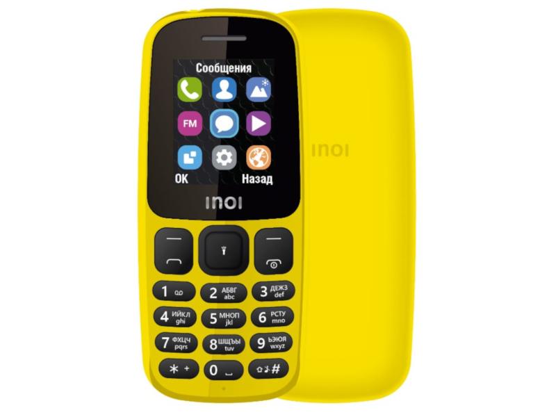 Сотовый телефон Inoi 101 Yellow сотовый