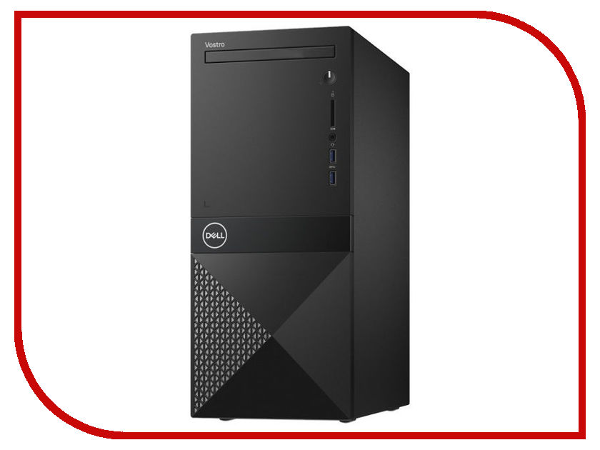 Настольный компьютер Dell Vostro 3670 MT Black 3670-3155 (Intel Core i5-8400 2.8 GHz/8192Mb/1000Gb/DVD-RW/Intel HD Graphics/LAN/Wi-Fi/Linux) ноутбук dell vostro 3568