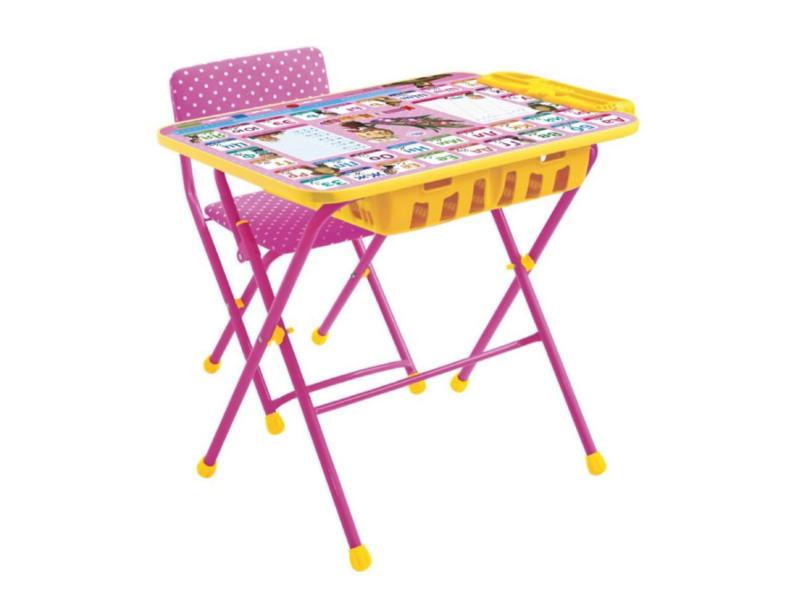 Набор детской мебели Nika Маша и медведь. Азбука 3 КУ2П/3 набор мебели nika умничка стол стул азбука 3 маша и медведь кну1 0283ку1 3