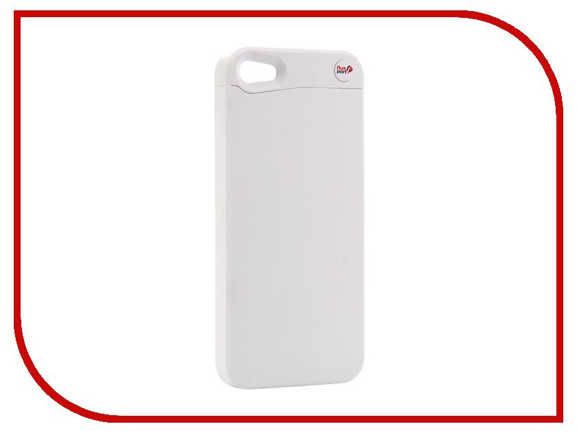 Аксессуар Чехол-ресивер FluxPort Fluxy 5A для APPLE iPhone 5/5S White cute marshmallow style silicone back case for iphone 5 5s yellow white