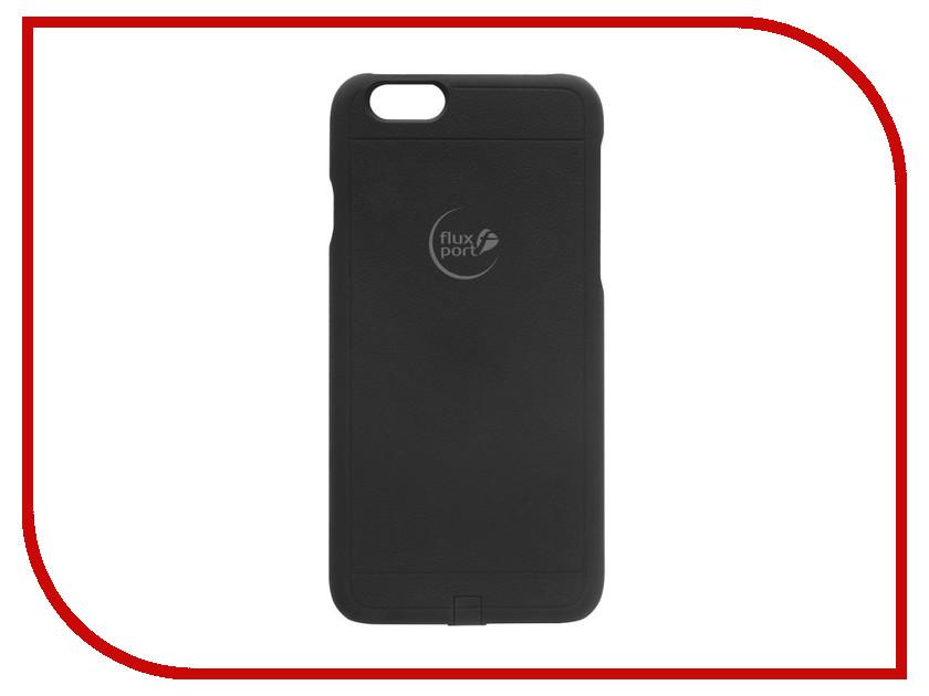Аксессуар Чехол-ресивер FluxPort Fluxy 6S для APPLE iPhone 6/6S Black аксессуар чехол kenu highline для iphone 6 6s black orange hl6 or na