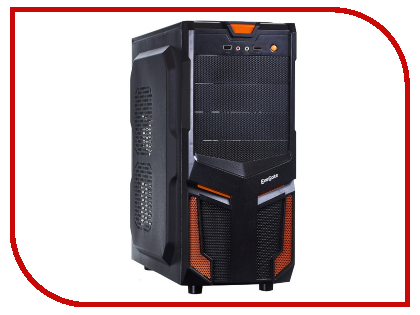 Корпус ExeGate EVO-7214 w/o PSU Black корпус gmc eco w o psu black