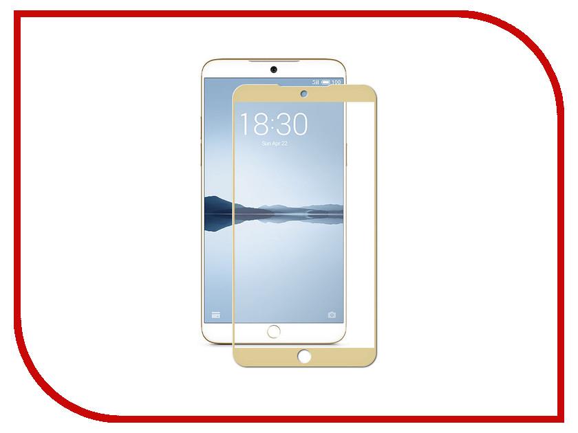 Аксессуар Защитное стекло для Meizu M15 Plus 5.95 Zibelino TG Full Screen 0.33mm 2.5D Gold ZTG-FS-MEI-M15PL-GLD аксессуар чехол samsung j3 2017 j330f zibelino clear view black zcv sam j330 blk