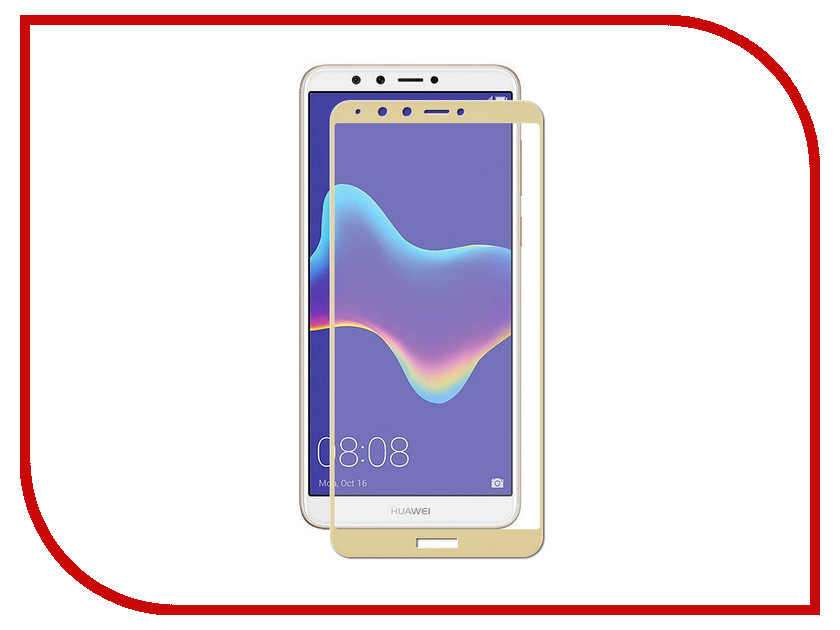 Аксессуар Защитное стекло для Huawei Y9 2018 Zibelino TG Full Screen 0.33mm 2.5D Gold ZTG-FS-HUW-Y9-2018-GLD аксессуар защитное стекло huawei honor 7x zibelino tg 0 33mm 2 5d ztg huw hon7x