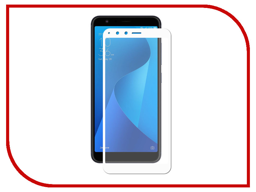 Аксессуар Защитное стекло для ASUS Zenfone Max Plus M1 ZB570TL Zibelino TG Full Screen 0.33mm 2.5D White ZTG-FS-ASU-ZB570TL-WHT сотовый телефон asus zenfone 4 max plus m1 zb570tl 32gb black
