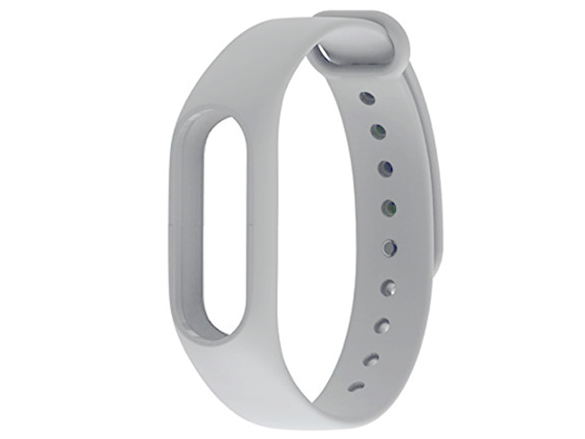 Aксессуар Ремешок Xiaomi Mi Band 2 Silicone Strap Light Gray