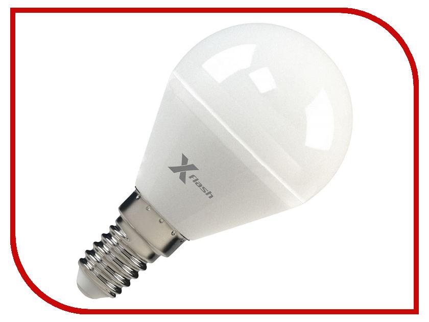 Лампочка X-flash XF-E14-P45-P-5W-3000K-12V 45914 festoon 41mm 0 5w 60lm 6 x smd 5050 led warm white light car reading indicator roof lamp 12v