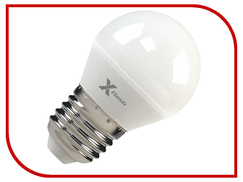 Лампочка X-flash XF-E27-G45-P-5W-3000K-12V 45891 festoon 41mm 0 5w 60lm 6 x smd 5050 led warm white light car reading indicator roof lamp 12v