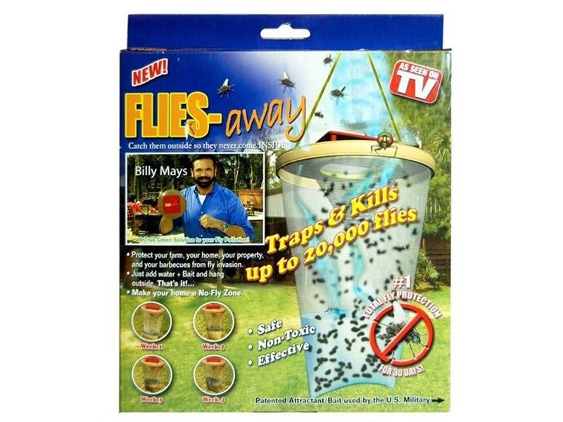 Средство защиты от мух Ловушка-приманка As Seen On TV Flies Away средство защиты от мух peleg design fly sword blue pe812