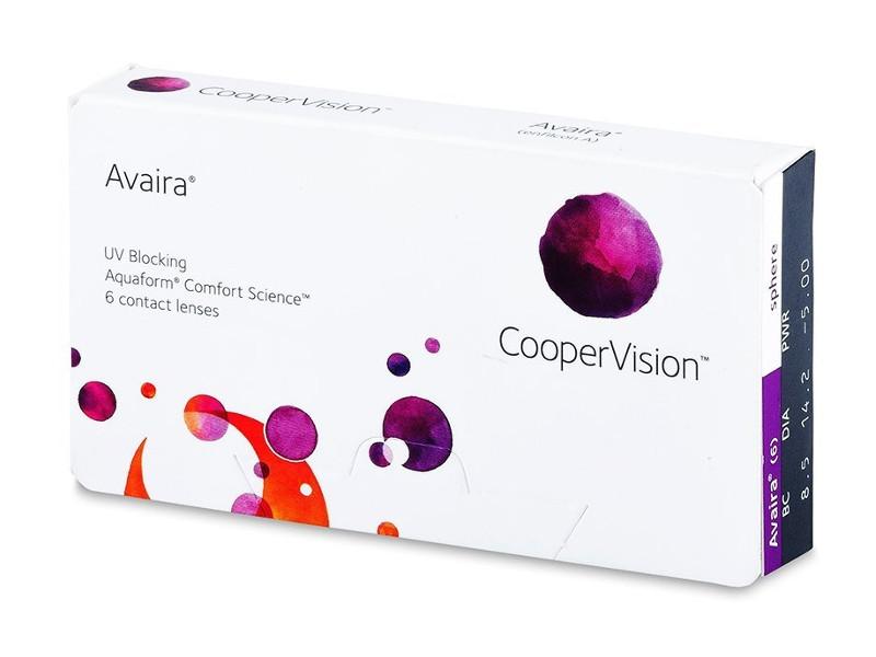 Контактные линзы CooperVision Avaira (6 линз / 8.5 / -0.5) адриа линзы контактные цветные гламур коричневый 8 6 0 0d 2шт
