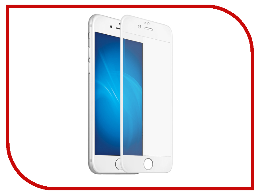 Аксессуар Защитное стекло для APPLE iPhone 6 Plus / 6S Plus Ainy Full Screen Cover 5D 0.2mm White AF-A430B клип кейс apple silicone для apple iphone 6 plus 6s plus белый