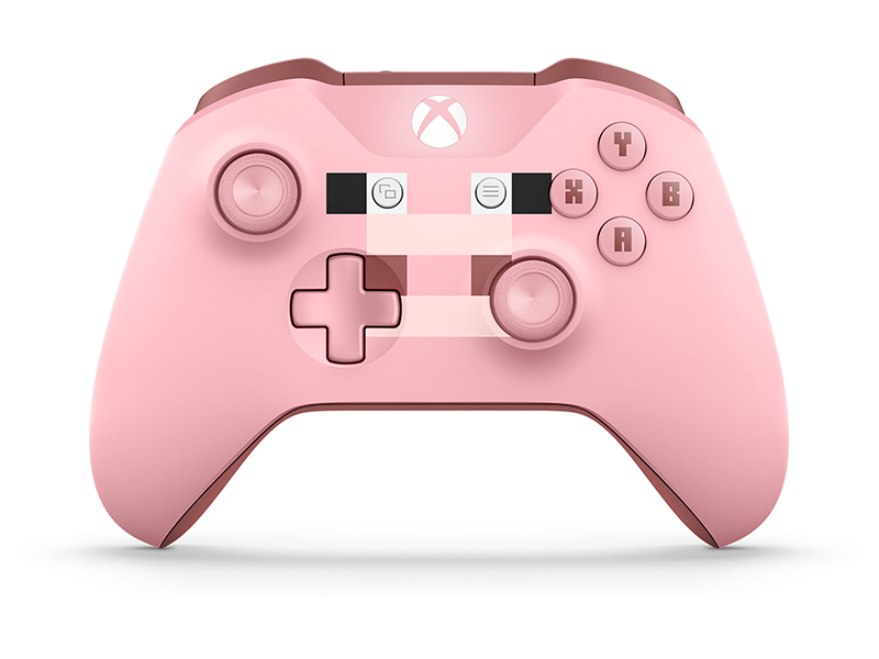 Microsoft Xbox One Wireless Controller Minecraft Series Pink цена