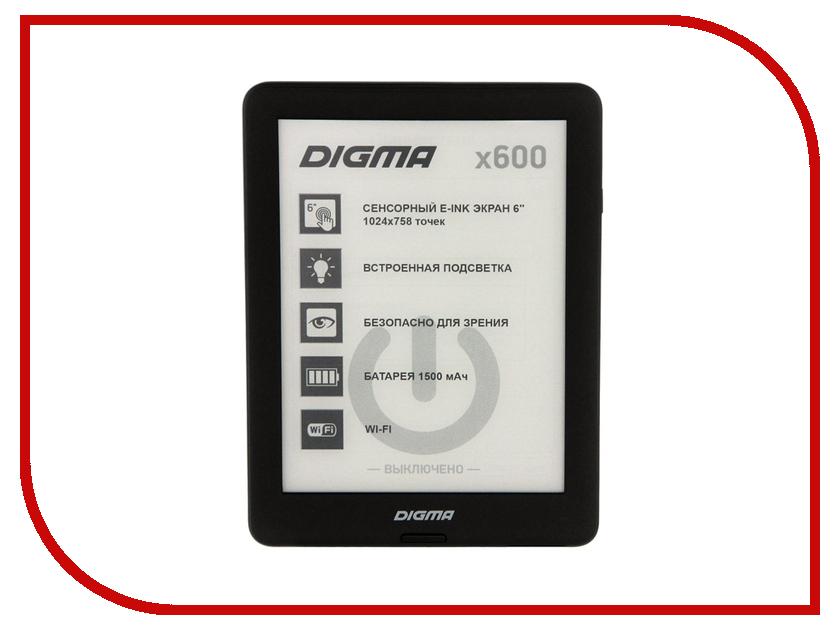 Электронная книга Digma X600 Black сотовый телефон digma linx a177 2g