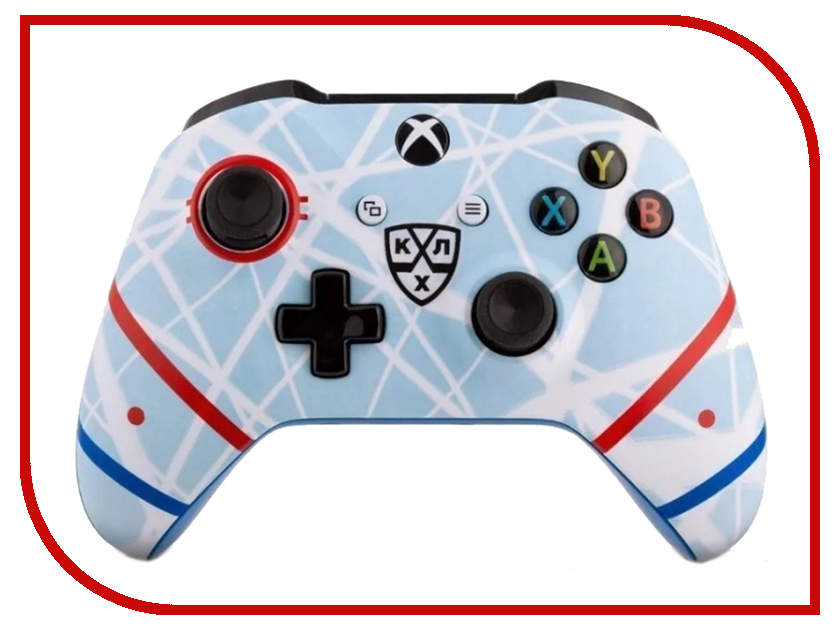 Геймпад Microsoft XBOX One Wireless Controller КХЛ Русский лед White-Grey TF5-00004-KHL-RI