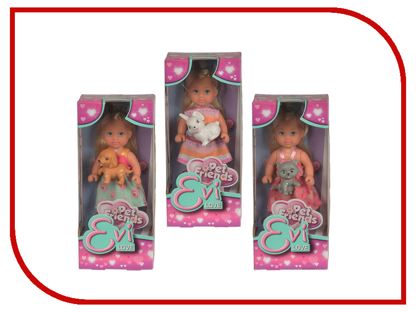 Кукла Simba Еви с зверюшками 5730513