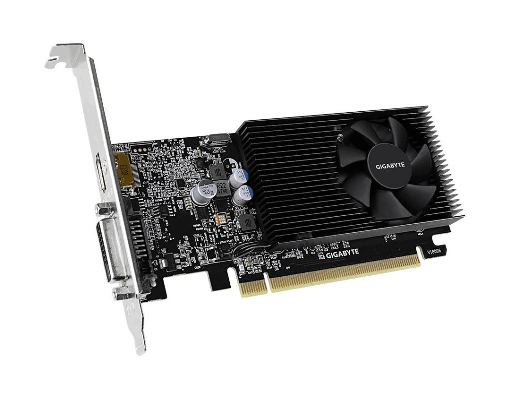 Видеокарта GigaByte GeForce GT 1030 1151Mhz PCI-E 3.0 2048Mb 2100Mhz 64 bit DVI HDMI HDCP GT 1030 Low Profile D4 2G GV-N1030D4-2GL видеокарта gigabyte geforce gt 730 gv n730d5 2gl pci e 2048mb 64 bit retail