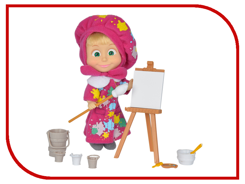 Кукла Simba Маша в одежде художницы с набором для рисования 9302047 simba simba гитара hello kitty 6 36
