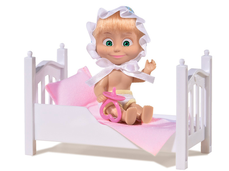 Кукла Simba Маша с кроваткой 9301821 simba abc машинка с пультом