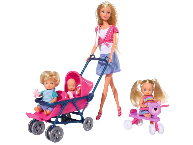 Кукла Simba Штеффи и дети 5736350 кукла штеффи собачка сумка в асс те