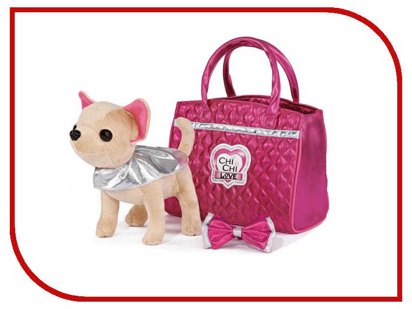 Игрушка Simba Собачка Chi-Chi love Гламур с розовой сумочкой и бантом 20cm 5893125 simba плюшевая собачка вампирчик chi chi love