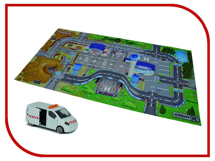 Игра Majorette Игровой коврик Creatix Construction + машинка 2056412 majorette человек паук и машинка majorette