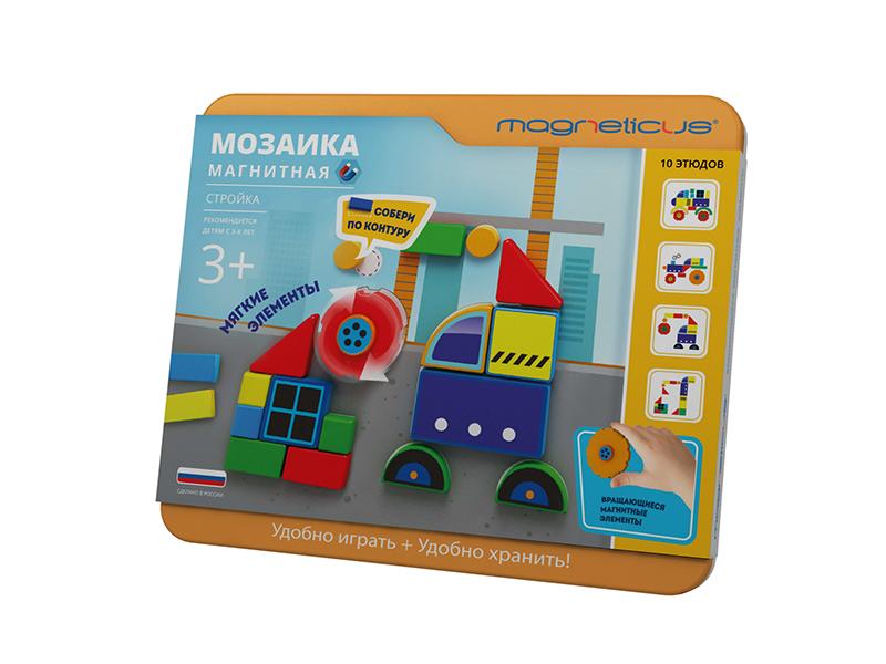 Настольная игра Magneticus Магнитная мозаика Стройка MC-005 цены