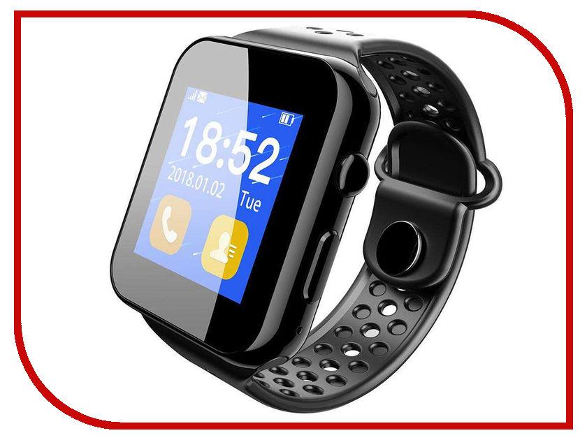 Умные часы ZDK I8W Black умные часы apple watch series 3 38mm grey space with black sport band mqkv2ru a