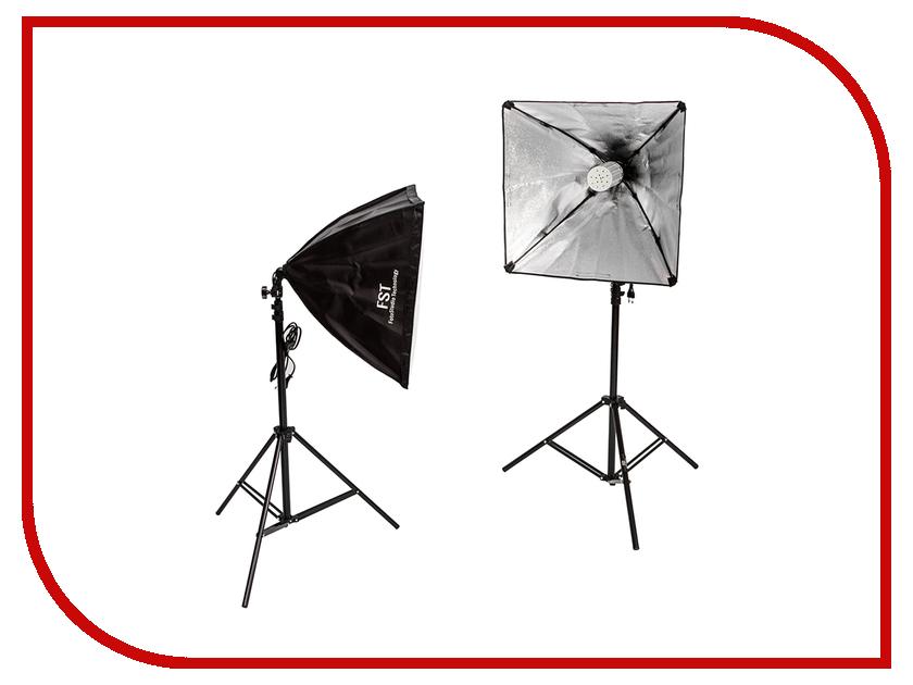 Комплект студийного света FST ET-LED462 KIT комплект студийного света lumifor amato 100 advance kit lx 100 3suu kit