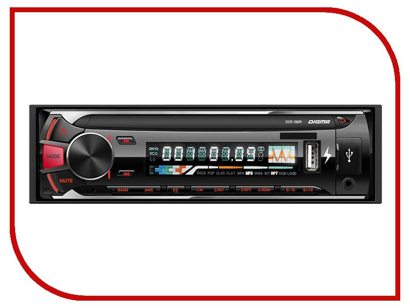Автомагнитола Digma DCR-380R автомагнитола digma dcr 380r 1din 4x45вт