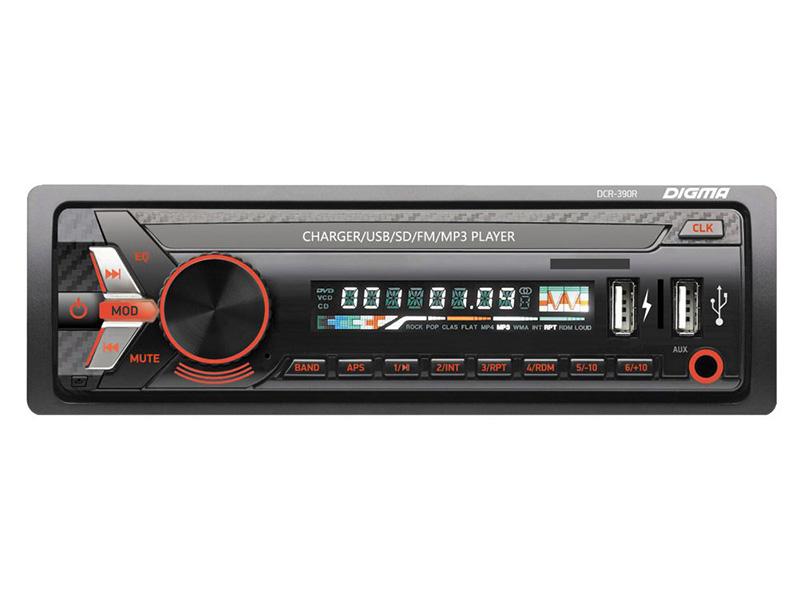 Автомагнитола Digma DCR-390R ду для фото и видеокамер sony dcr dvd101 dcr dvd103