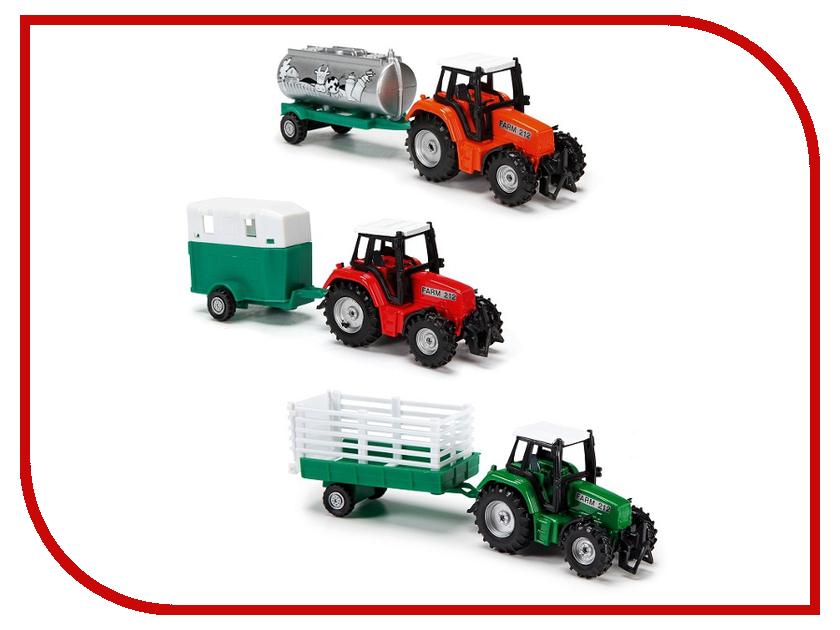 Игрушка Dickie Toys Трактор с прицепом 3733001 трактор с прицепом металл 3вида 18см 12 48 dickie
